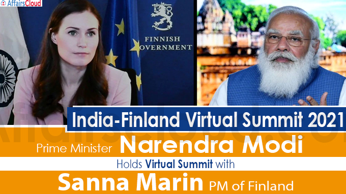 PM Modi holds virtual summit with PM Sanna Marin