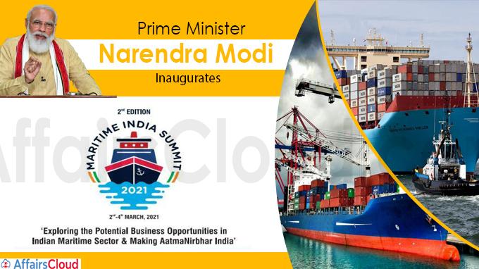 PM Modi inaugurates Second edition of Maritime India Summit-2021