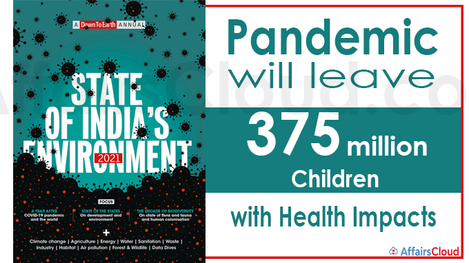 Pandemic will leave 375 million children with health impacts