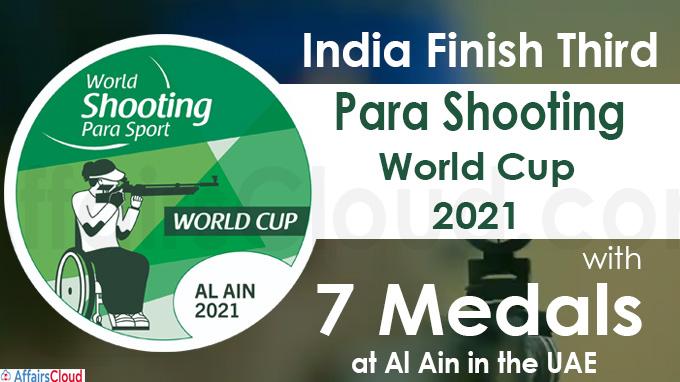 Para Shooting World Cup 2021