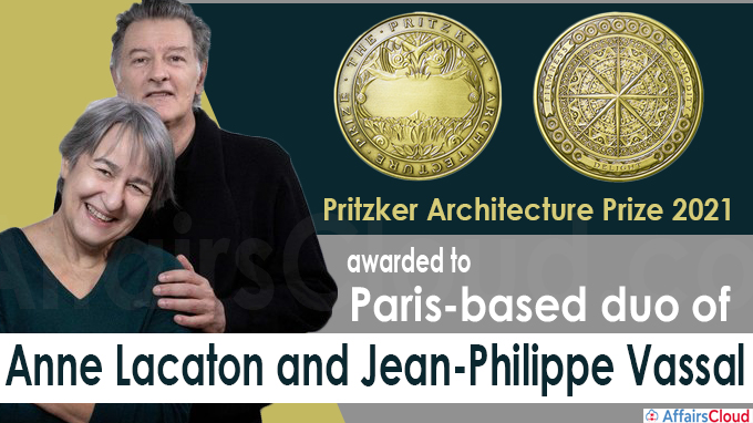 Pritzker Architecture Prize 2021 awarded to Paris-based duo