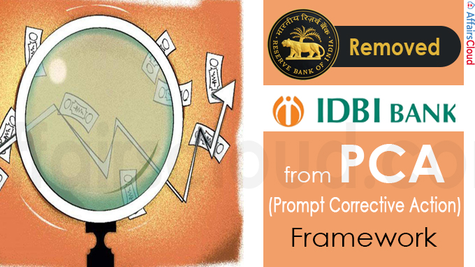RBI removes IDBI Bank from PCA framework