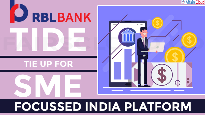RBL Bank, Tide tie up for SME-focussed India platform
