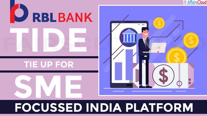 RBL Bank, Tide tie up for SME-focussed India platform