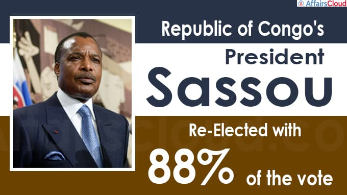 Republic of Congo's President Sassou re-elected with 88% of the vote
