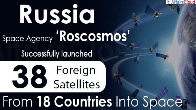 Russia Launches 38 Satellites