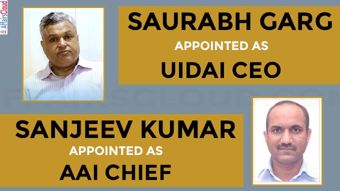 Saurabh Garg appointed UIDAI CEO, Sanjeev Kumar to be AAI chief
