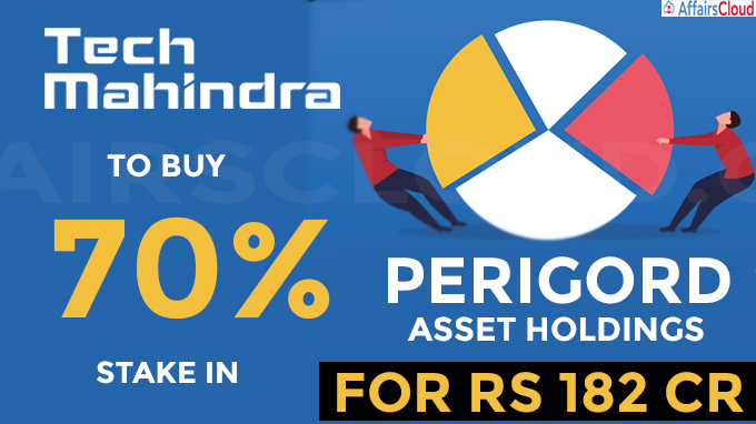 Tech Mahindra to buy 70% stake in Perigord Asset Holdings for Rs 182 cr