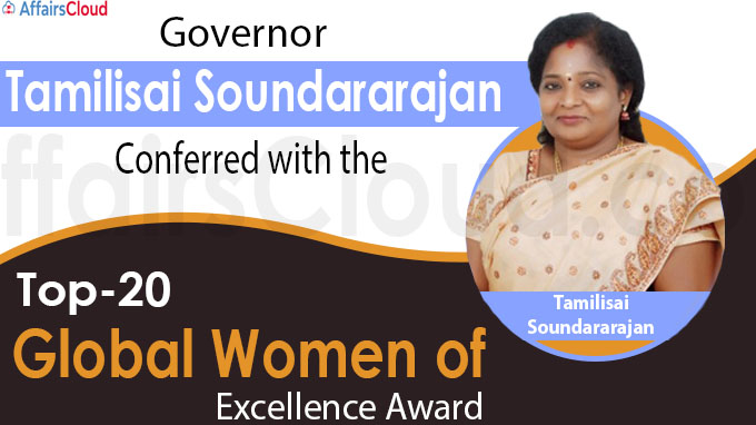 Top-20 Global Women of Excellence Award