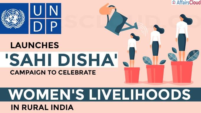 UNDP launches 'Sahi Disha' campaign to celebrate