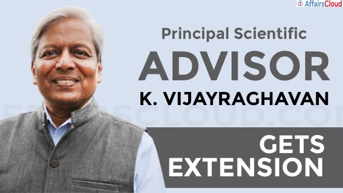 VijayRaghavan gets extension