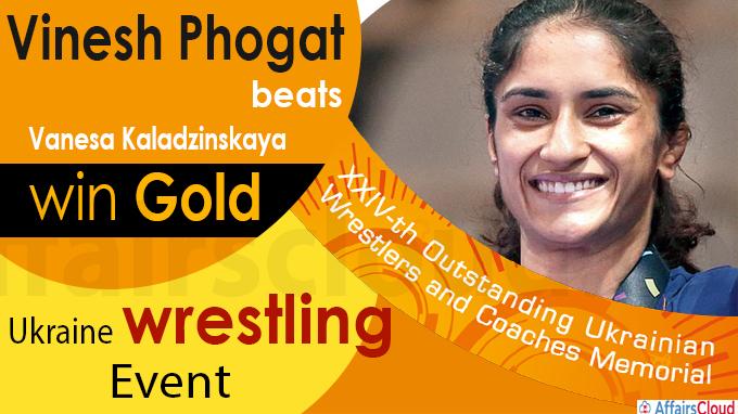 Vinesh Phogat beats Vanesa Kaladzinskaya to win gold
