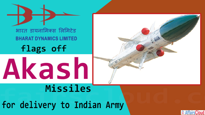 Akash Missiles for delivery to Indian Army