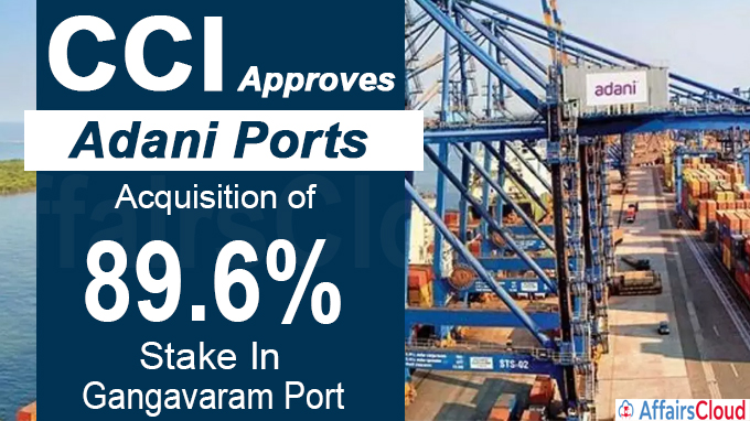 CCI Approves Adani Ports' acquisition of 89-6%