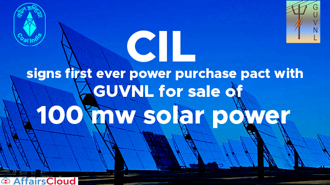 CIL-signs-first-ever-power-purchase-pact-with-GUVNL-for-sale-of-100-mw-solar-power