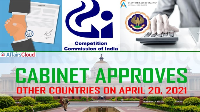 Cabinet Approval with other countries on April 20, 2021
