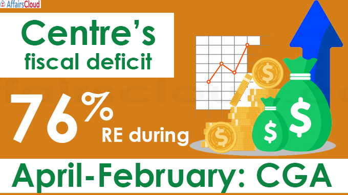 Centre's fiscal deficit at 76 pc