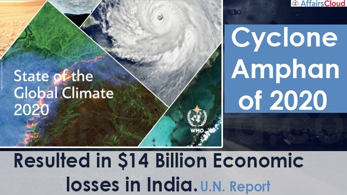 Cyclone Amphan of 2020 resulted in $14 billion economic losses in India