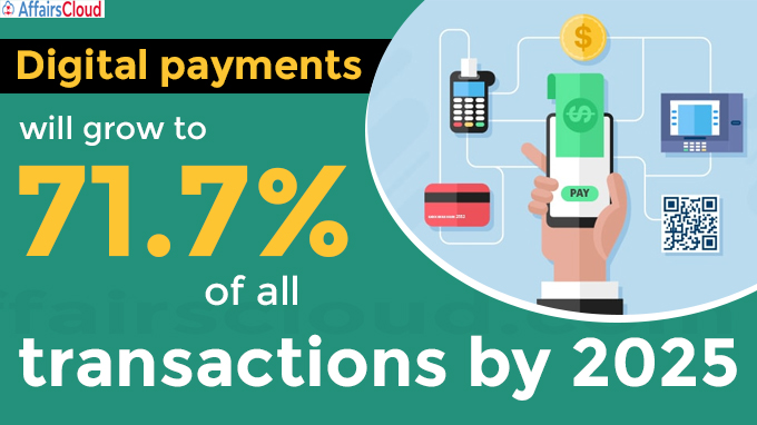 Digital payments will grow to (1)