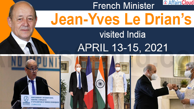 French Minister Jean-Yves Le Drian's visit to India