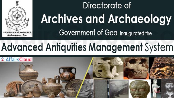 Goa gets Advanced Antiquities Management System