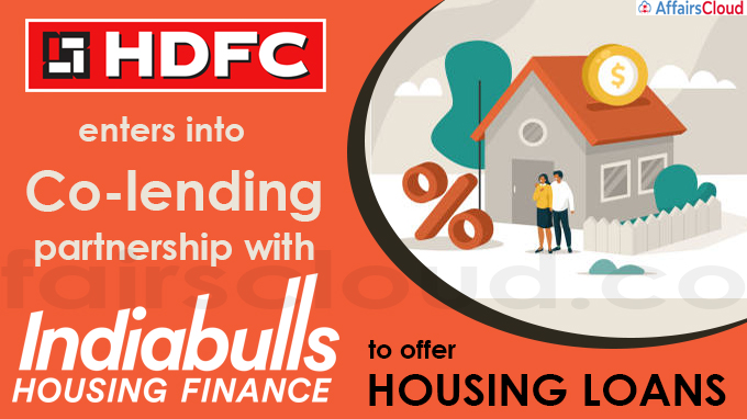 HDFC enters into co-lending partnership with Indiabulls Housing Finance