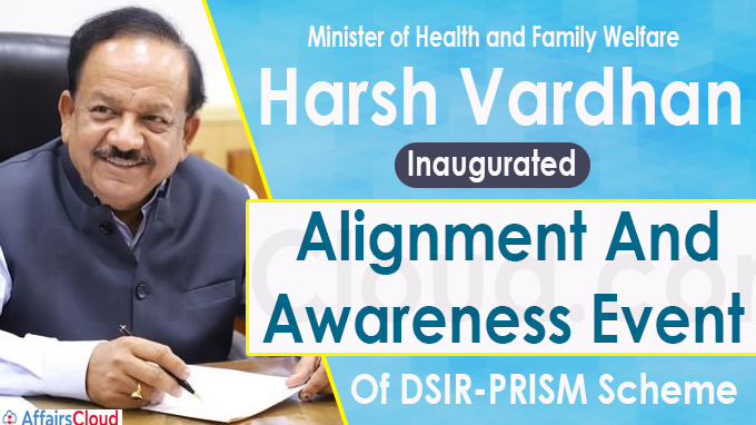 Harsh Vardhan Inaugurates Alignment And Awareness