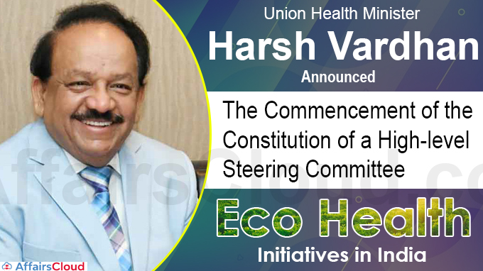 Harsh Vardhan announces the commencement of the constitution