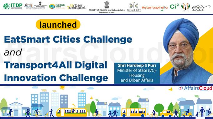 Housing & Urban Affairs Minister launches EatSmart Cities Challenge