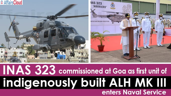 INAS 323 commissioned at Goa as first unit of indigenously
