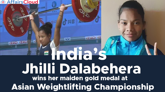 --India's-Jhilli-Dalabehera-wins-her-maiden-gold-medal-at-Asian-Weightlifting-Championship