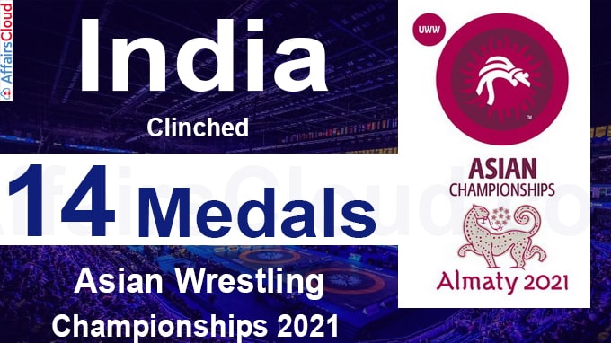 India clinches 14 medals in Asian Wrestling Championships 2021