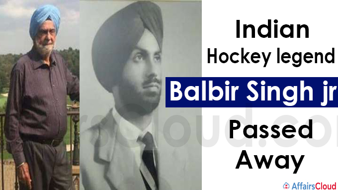 Indian Hockey legend Balbir Singh jr passes away