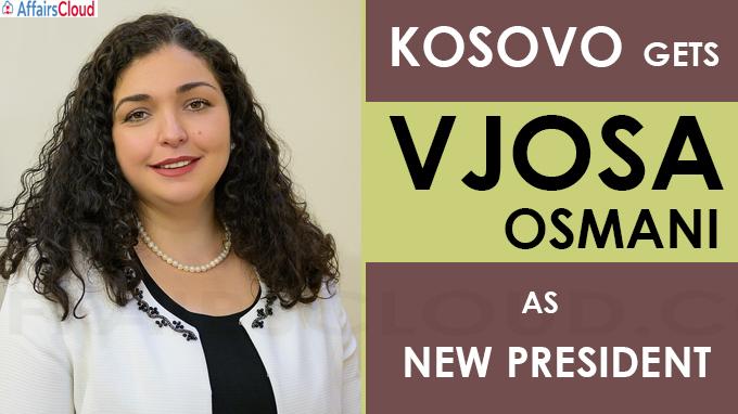Kosovo gets Vjosa Osmani
