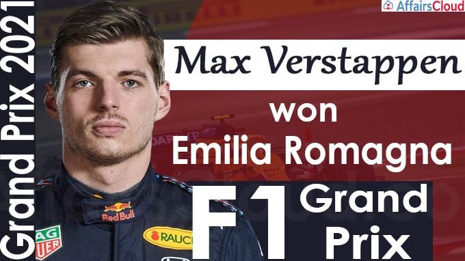 Max Verstappen wins Emilia Romagna F1 Grand Prix