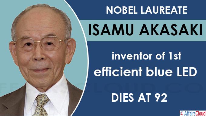 Nobel laureate Isamu Akasaki