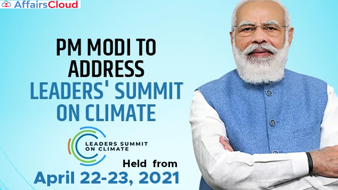 Prime-Minister-Narendra-Modi-address-Leaders'-Summit-on-Climate-held--from--April-22-23,-2021