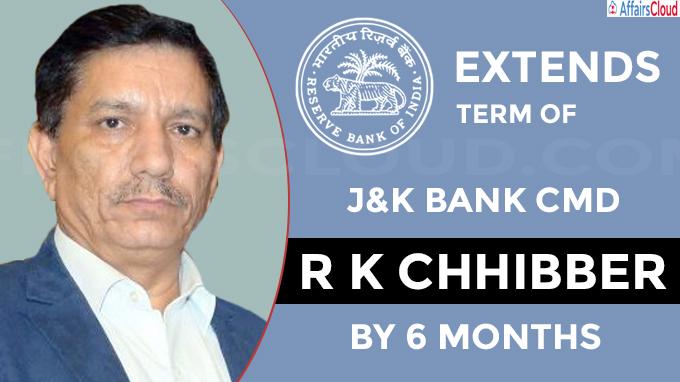 RBI extends term of J&K Bank CMD by 6 months