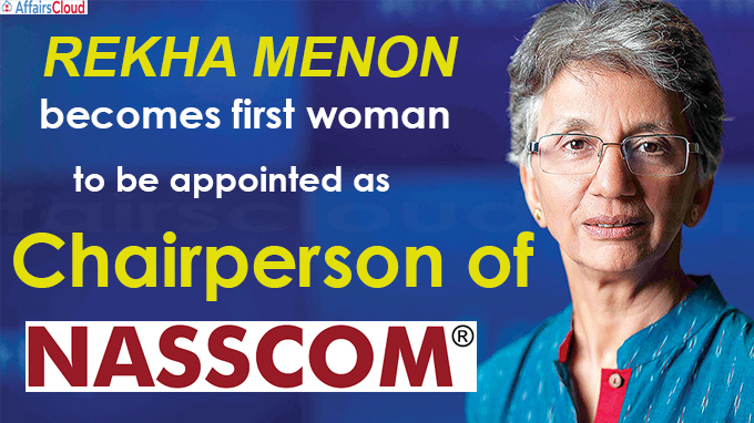 Rekha Menon becomes first woman to be appointed chairperson of Nasscom