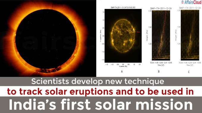Scientists develop new technique to track solar eruptions and to be used in India's first solar mission