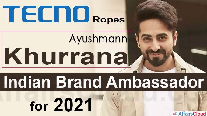 TECNO ropes in Ayushmann Khurrana as its Indian brand ambassador