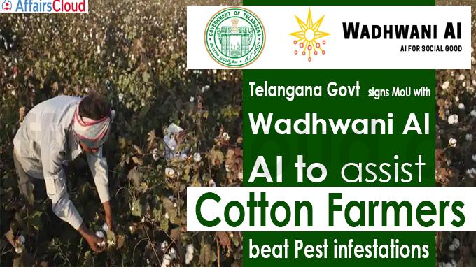 Telangana Govt signs MoU with Wadhwani AI