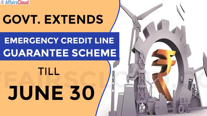 emergency credit line guarantee scheme till June