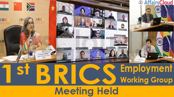 1st BRICS Employment Working Group (EWG) Meeting held