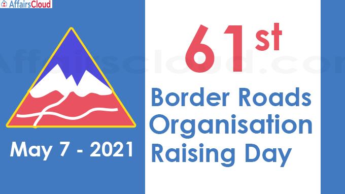 61st Border Roads Organisation Raising