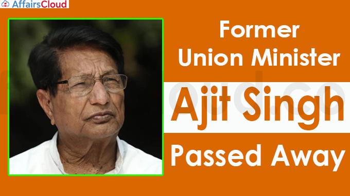 Ajit Singh, former Union minister