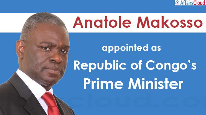 Anatole Makosso appointed Republic of Congo's new Prime Minister