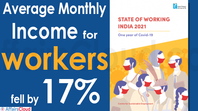 Average monthly income for workers fell by 17%