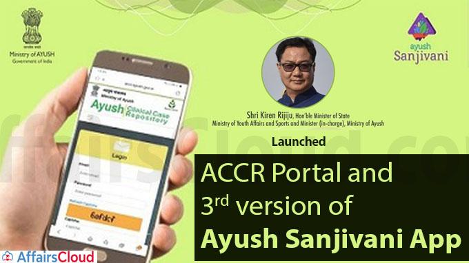 Ayush Minister launches ACCR Portal and 3rd version of Ayush Sanjivani App