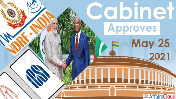 Cabinet Approval on May 25, 2021